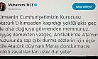 KAHRAMANMARAŞ MİLLETVEKİLİ İNCE'DEN ÖZÜR BEKLİYOR