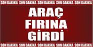 OTOMOBİL PİDE FIRININA DALDI