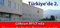 Tapu ve Kadastro Programı Türkiye'de ikinci olarak Göksun Meslek Yüksekokulu'nda açıldı.