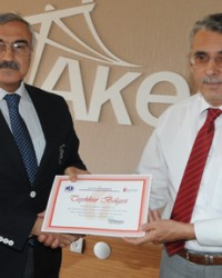Akedaş'a Plaket