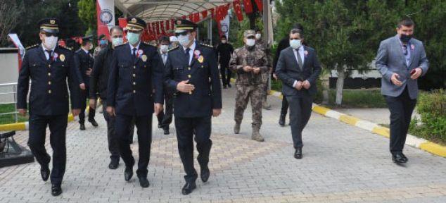 POLİS TEŞKİLATINDAN ŞEHİTLİĞE ZİYARET