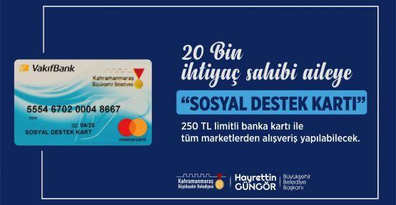RAMAZAN DESTEĞİ 'SOSYAL DESTEK KART' İLE SAĞLANACAK…